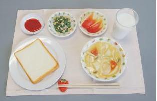 イワイサンプル 学校給食指導用展開例【Aセット】/食品サンプル/栄養指導用フードモデル