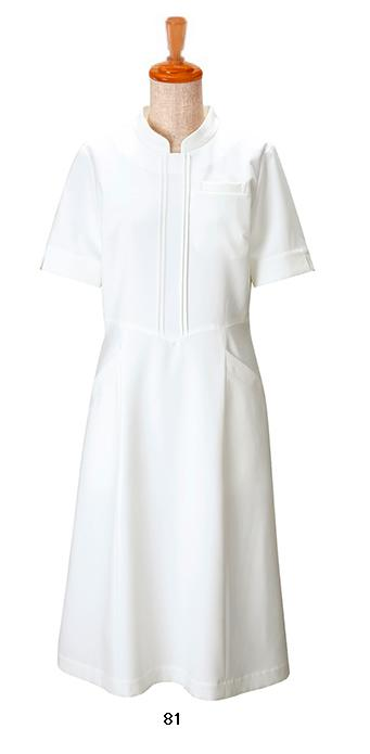 B-Spa(ビースパ) 00112 ワンピース エステ・クリニック衣料/制服/ユニフォーム ホワイト
