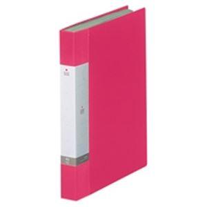 (業務用20セット) LIHITLAB クリアブック/クリアファイル リクエスト 【A4/タテ型】 固定式 40ポケット G3202-3 赤