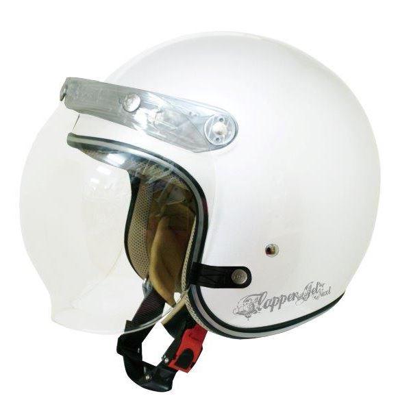ダムトラックス(DAMMTRAX) ジェットヘルメット フラッパージェットネクスト P.WHITE