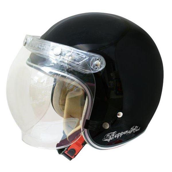 ダムトラックス(DAMMTRAX) ジェットヘルメット フラッパージェットネクスト P.ブラック
