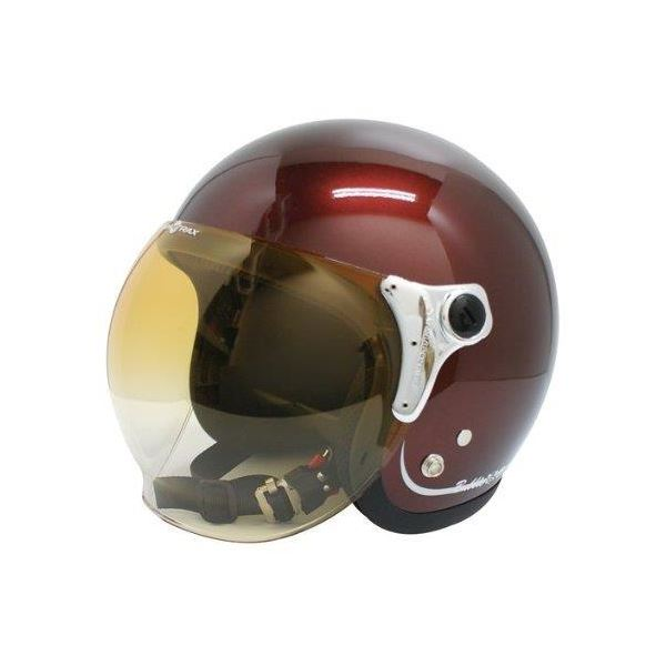 ダムトラックス(DAMMTRAX) ジェットヘルメット BUBBLE-BEE マルーン フリーサイズ(57CM~60CM未満)
