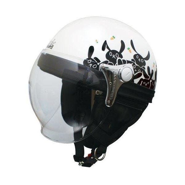 ダムトラックス(DAMMTRAX) ハーフヘルメット CARINA HARF(カリーナハーフ) ホワイト/RABBIT レディース(57cm~58cm)