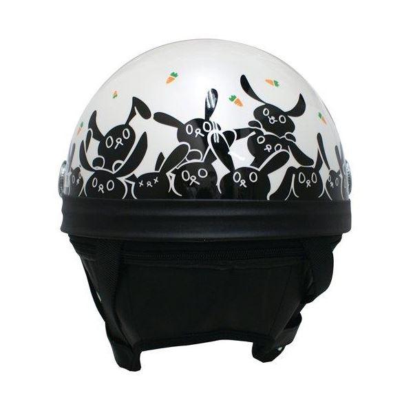 담트락스(DAMMTRAX) 하프 헬멧 CARINA HARF(카리나하후) 화이트/RABBIT 레이디스(57 cm~58 cm)
