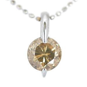 K18WG大粒0.8ctダイヤモンドペンダント/ネックレス