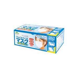 (業務用40セット)東京サラヤ フェイスフィットマスク ふつう 50枚