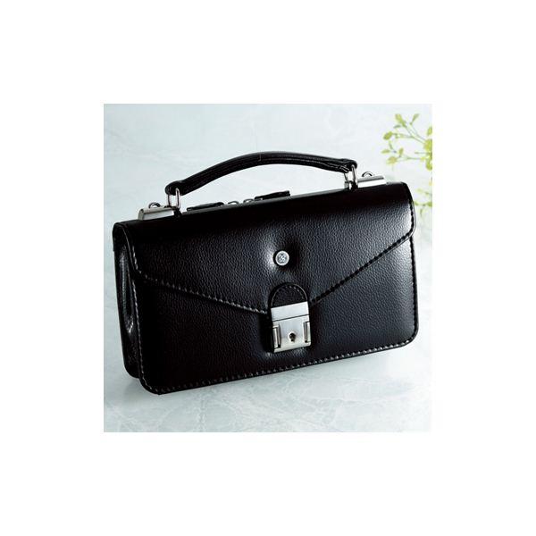 【日本製】家紋付 礼装多機能バッグ (小) 鍵付◆丸に右三階松 backs-36