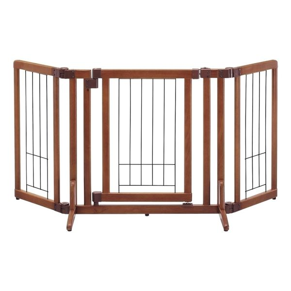 リッチェル 木製おくだけドア付ゲート S 【ペット用品】