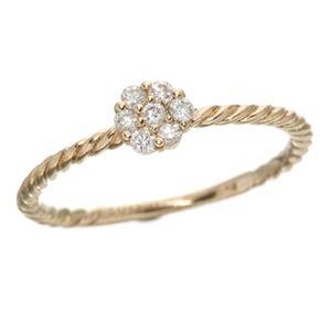 K14ピンクゴールド ダイヤリング 指輪 15号
