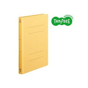 (まとめ)TANOSEE フラットファイル バインダー 2穴 <厚とじW>A4タテ 250枚収容 黄 10冊入×20パック