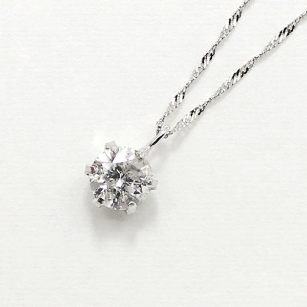 プラチナ900 0.55ct ダイヤモンドペンダント/ネックレス【代引不可】