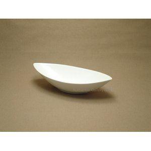 白い器 舟型深鉢 ホワイト Mサイズ (3個セット)
