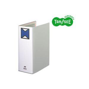 (まとめ)TANOSEE パイプ式ファイル 片開き A4タテ 100mmとじ グレー 30冊