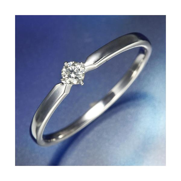 K18WGダイヤリング 指輪 17号