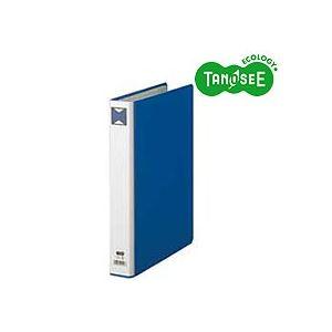 (まとめ)TANOSEE パイプ式ファイル 片開き A4タテ 30mmとじ 青 30冊
