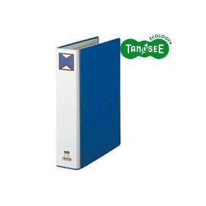 (まとめ)TANOSEE パイプ式ファイル 片開き A4タテ 50mmとじ 青 30冊