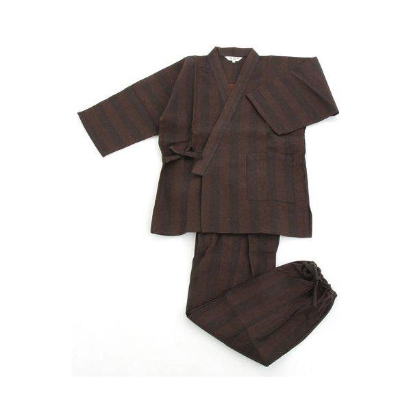 纏(まとい)織作務衣 141-1905 濃茶モカ Lサイズ