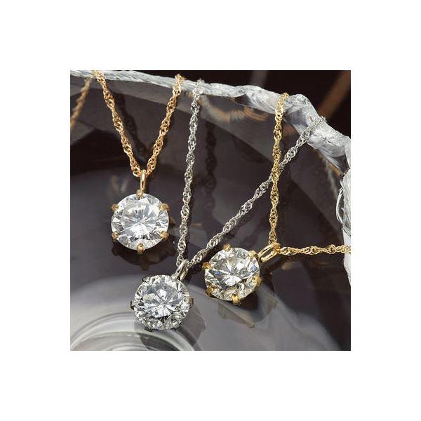 K18/0.5ctダイヤモンドペンダント/ネックレス K18WG