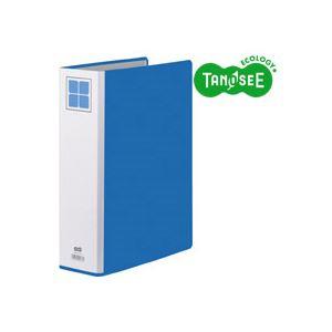 (まとめ)TANOSEE 両開きパイプ式ファイルE A4タテ 60mmとじ 青 30冊