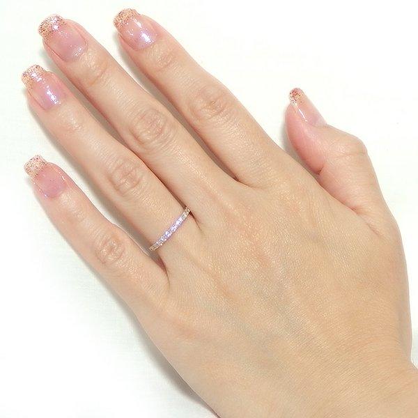 ダイヤモンド リング ハーフエタニティ 0.5ct K18 ピンクゴールド 12号 0.5カラット エタニティリング 指輪 鑑別カード付き