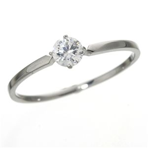 大きめだけ プラチナPt900 /0.3ctダイヤリング 指輪 81610/4爪17号