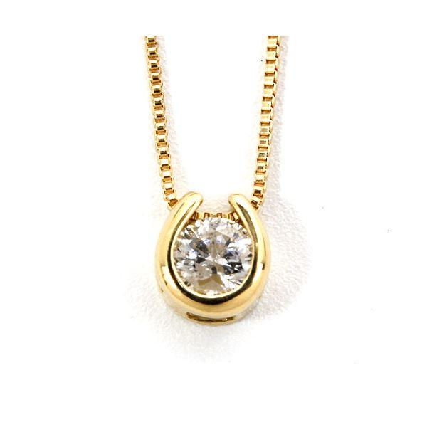 K18イエローゴールド 天然ダイヤモンドペンダント/ネックレス ダイヤ0.1CT