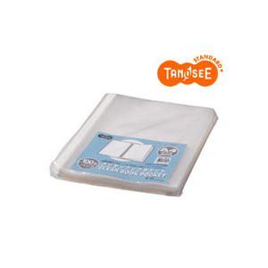 (まとめ)TANOSEE クリヤーブック クリアブックポケット A4タテ 30穴 100枚入×12パック