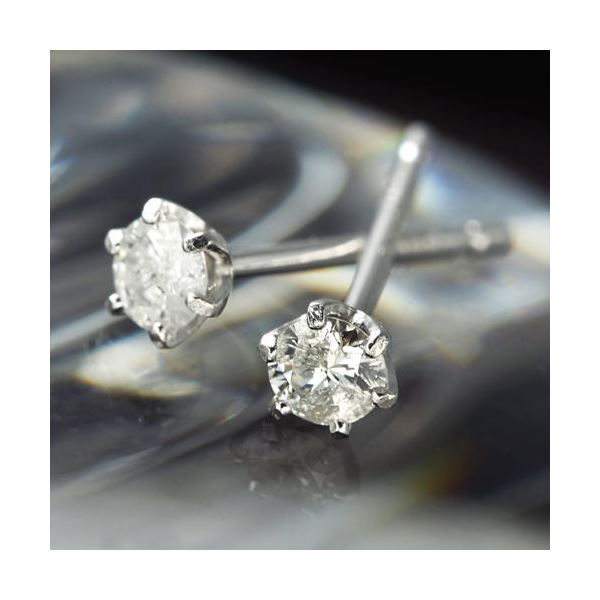 純プラチナ 0.1ctダイヤモンドピアス