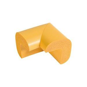 (業務用20セット)カーボーイ 安心クッション L字コーナー 大 黄 4個組