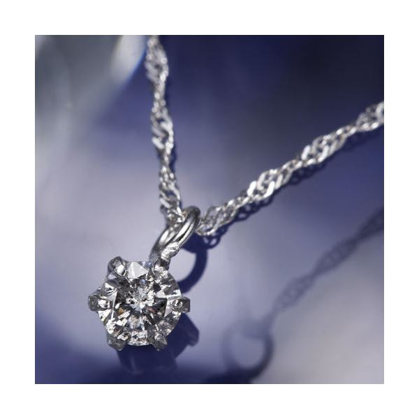 純プラチナ0.1ctダイヤモンドペンダント/ネックレス