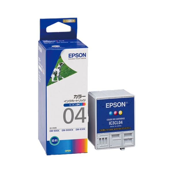 (まとめ) エプソン EPSON インクカートリッジ カラー(3色一体型) IC3CL04 1個 【×6セット】