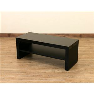 【訳あり・在庫処分】テレビ台/テレビボード 【幅80cm】 ブラック 『SIMPLE』 鏡面仕上げ オープン収納棚付き
