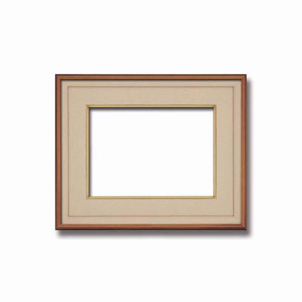 【高級日本画額】前面アクリル仕様 高級和額 厚みのある作品収納可 ■高級色紙F4サイズ(333×242mm)ベージュ