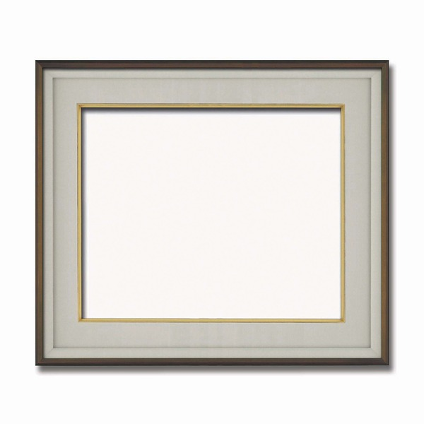 【高級日本画額】前面アクリル仕様 高級和額 厚みのある作品収納可 ■高級色紙F10サイズ(530×455mm)ダークオーク