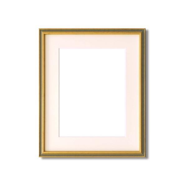 水彩額縁/フレーム 【F8号/ライトグリーン】 壁掛けひも/アクリル/マット付き 化粧箱入り 9714