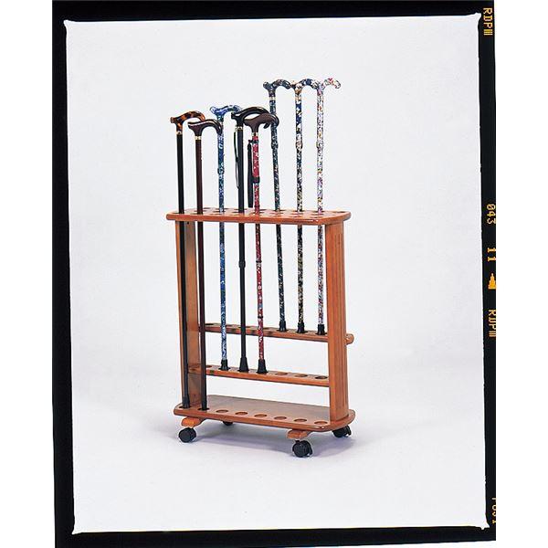 ステッキスタンド/杖立て 木製(天然木) 幅51cm×奥行23cm 豊通オールライフ (歩行補助用品/介護用品)