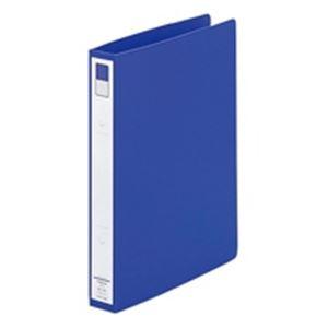 (業務用100セット) LIHITLAB リング式ファイル 【B5/2穴】 タテ型 背幅:36mm F-872U-8 青