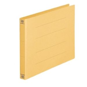 (業務用50セット) プラス フラットファイル/紙バインダー 【A4/2穴 10冊入り】 ヨコ型 022NW イエロー(黄) ×50セット
