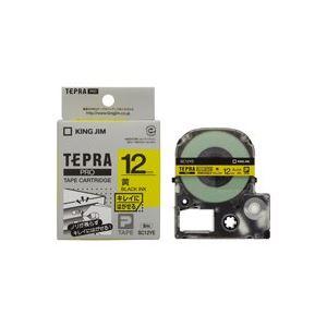 (業務用50セット) キングジム テプラPROテープ/キレイにはがせるテープ 【幅:9mm/長さ12m】 黄に黒文字 SC12YE
