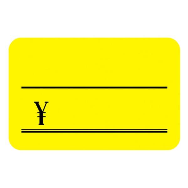 (業務用100セット) タカ印 蛍光カード 14-3625 小¥付 レモン 30枚
