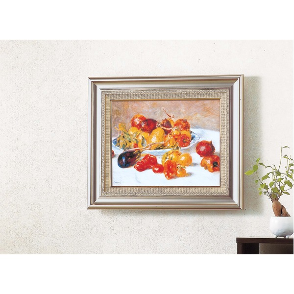 名画額縁/フレームセット 【F6AS】 ルノワール 「南仏の果実」 477×571×59mm 壁掛けひも付き