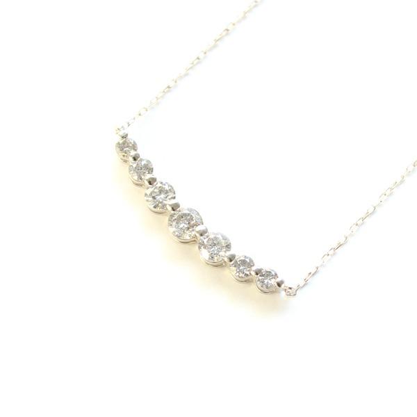 プラチナ 0.5ct ダイヤモンド 7ストーン ライン ペンダント【代引不可】