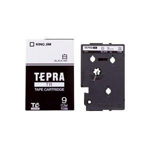 (業務用30セット) キングジム テプラTRテープ TC9S 白に黒文字 9mm