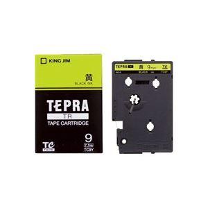 (業務用30セット) キングジム テプラTRテープ TC9Y 黄に黒文字 9mm