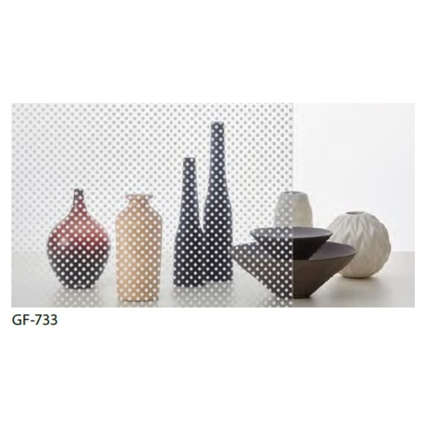 ドット柄 飛散防止ガラスフィルム サンゲツ GF-733 93cm巾 10m巻