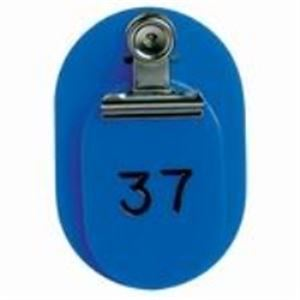 (業務用5セット) 西敬 親子札/番号札 #7155 BO-1B 1~50(50組) 青