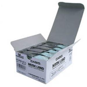 (業務用5セット) カシオ計算機(CASIO) テープ XR-18WE-5P-E 白に黒文字 18mm 5個