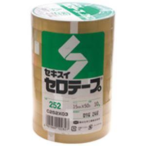 (業務用30セット) セキスイ セロテープ 252 15mmx50m 10巻