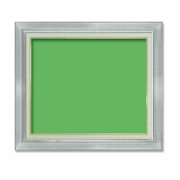 【油額】油絵額・キャンバス額・金の油絵額・銀の油絵額 ■油絵額F12号(606×500mm)「シルバー」