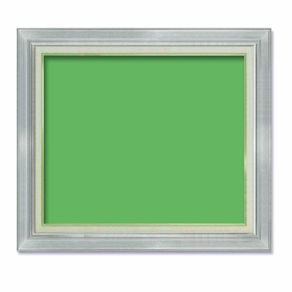 【油額】油絵額・キャンバス額・金の油絵額・銀の油絵額 ■油絵額F15号(652×530mm)「シルバー」